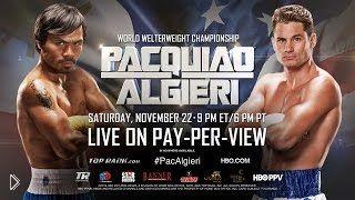 Смотреть онлайн Бой Мэнни Пакьяо против Криса Алгиери 2014