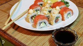 Смотреть онлайн Пошаговый рецепт приготовления домашних роллов