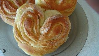 Смотреть онлайн Рецепт простых сладких булочек