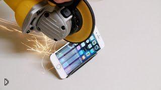 Смотреть онлайн Как правильно измельчить айфон 6 болгаркой