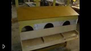 Смотреть онлайн Как сделать гнездо для куриц несушек своими руками