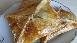 Смотреть онлайн Рецепт хачапури из слоеного теста