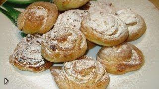 Смотреть онлайн Выпечка из слоеного теста: миндальные пирожные