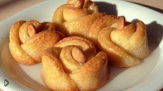 Смотреть онлайн Турецкая кухня: готовим печенье розочки