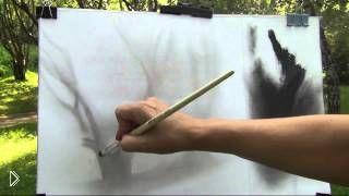 Смотреть онлайн Мастер класс техники рисования сухой кистью