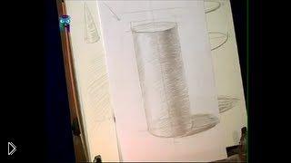 Смотреть онлайн Как нарисовать поэтапно конус с тенями карандашом