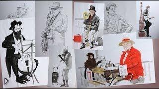 Как правильно нарисовать наброски человека - Видео онлайн