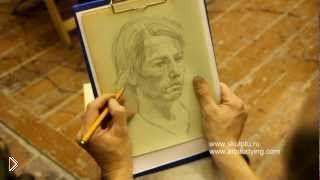 Набросок портрета человека карандашом - Видео онлайн