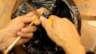 Смотреть онлайн Правильная заточка карандаша для рисования