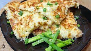 Смотреть онлайн Сырный омлет на завтрак