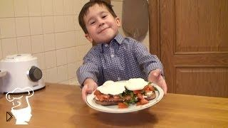 Смотреть онлайн Дети готовят французский завтрак