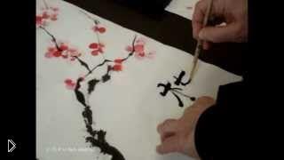 Смотреть онлайн Как нарисовать цветущую ветку сакуры красками