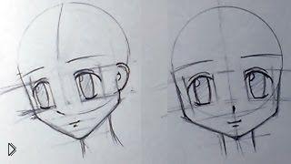 Смотреть онлайн Как поэтапно рисовать аниме голову девушки карандашом