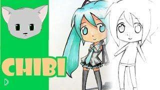 Как поэтапно нарисовать девочку чиби карандашом - Видео онлайн