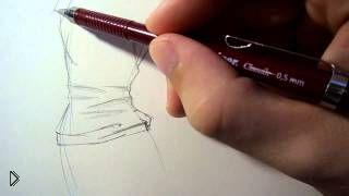 Смотреть онлайн Как нарисовать складки на ткани одежды