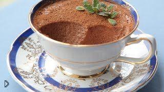 Смотреть онлайн Рецепт нежного десерта: шоколадный мусс