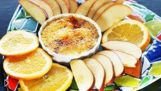 Смотреть онлайн Рецепт крема брюле на десерт