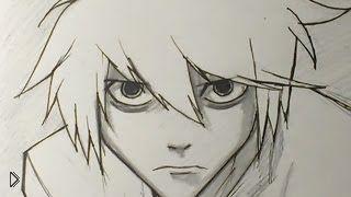 Смотреть онлайн Как правильно поэтапно нарисовать лицо аниме парня