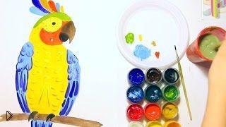 Смотреть онлайн Как легко поэтапно, нарисовать красивого попугая ара