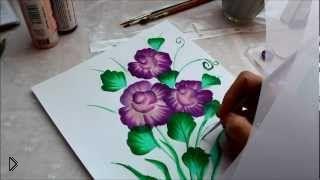 Смотреть онлайн Как нарисовать букет красивых цветов красками