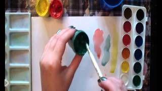 Смотреть онлайн Что лучше и чем отличается краски акварель и гуашь