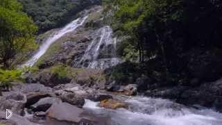 Смотреть онлайн Качественная съемка водопада для релаксации 4К