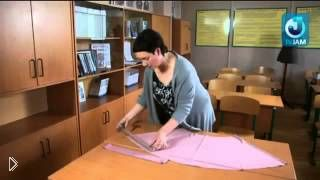 Смотреть онлайн Как сшить блузку из трикотажа для начинающих