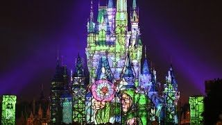 Смотреть онлайн Лазерное шоу, посвященное мультикам Диснея