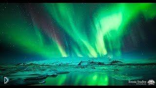 Смотреть онлайн Съемка северного сияния в высоком разрешении