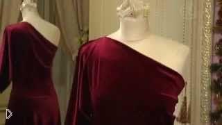 Смотреть онлайн Как сшить бархатное платье своими руками