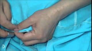 Смотреть онлайн Как подшить низ трикотажного платья потайным стежком