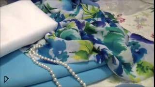 Смотреть онлайн Как сшить легкое летнее платье. Как выбрать ткань