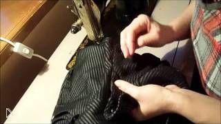 Смотреть онлайн Как самостоятельно вшить молнию в брюки