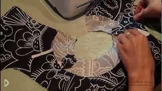 Смотреть онлайн Схема обработки выреза горловины обтачкой