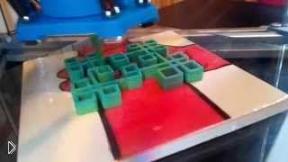 Смотреть онлайн Печать рисунка 3D принтером