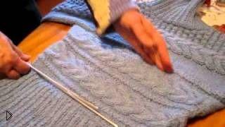 Смотреть онлайн Как связать красивый женский свитер спицами
