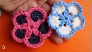 Вязание простых цветков крючком для начинающих - Видео онлайн