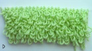 Смотреть онлайн Мастер класс: вязание узора «мех» спицами