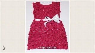 Смотреть онлайн Описание вязания детского летнего платья крючком