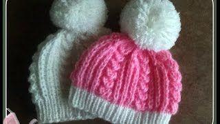 Как связать красивую шапочку для новорожденного - Видео онлайн