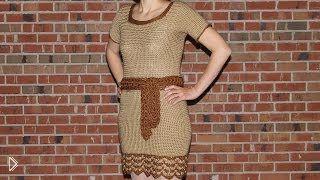 Смотреть онлайн Схема вязания женского платья крючком с описанием
