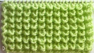 Смотреть онлайн Схема вязания узора «узелки» или «ежики» спицами