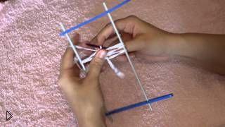Смотреть онлайн Мастер класс: урок обучения вязания на вилке