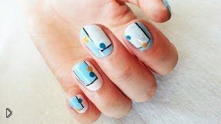 Урок дизайна маникюра на короткие ногти - Видео онлайн
