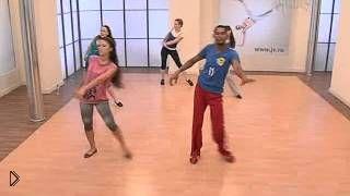 Смотреть онлайн Урок танцевальной аэробики латины для начинающих