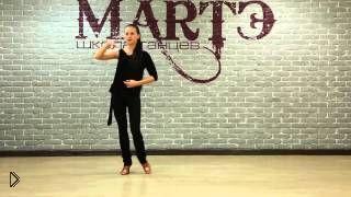 Смотреть онлайн Урок бального танца румба для начинающих