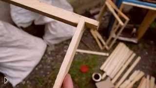 Смотреть онлайн Изготовление пчелиной рамки своими руками