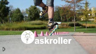 Смотреть онлайн Как научится кататься на роликах на одном колесе