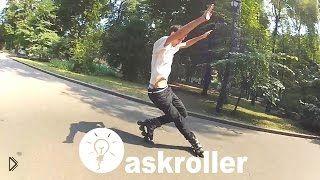 Смотреть онлайн Как правильно сделать на роликах трюк циркуль