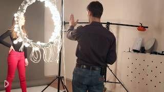Смотреть онлайн Как самостоятельно сделать кольцевую лампу для съемок